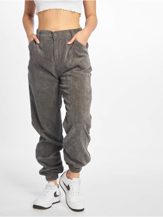 Missguided Chino pants Cord gray
