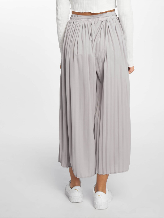 Missguided Chino pants Pleated Culottes gray