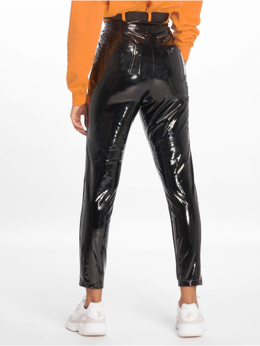 Missguided Chino Vinyl schwarz