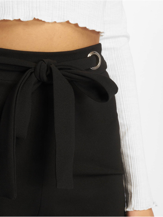 Missguided Chino Crepe Eyelet zwart