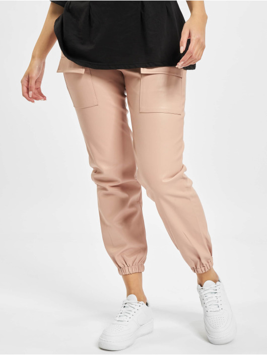 Missguided Chinos Pocket Detail Pu Utility rosa