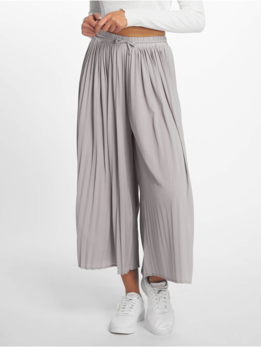 Missguided Chinot/Kangashousut Pleated Culottes harmaa