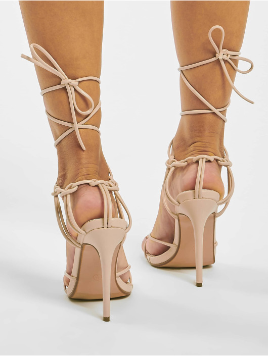 Missguided Claquettes & Sandales Super Strappy Square Toe Barley beige