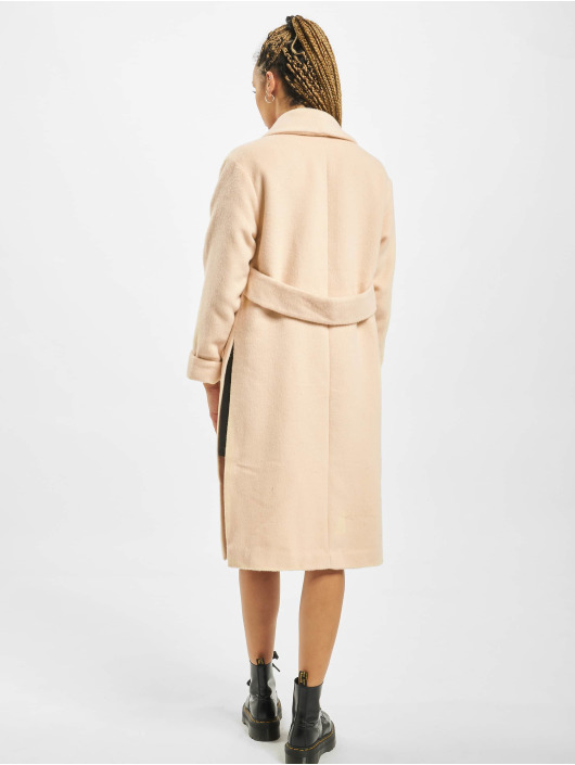 Missguided Coats Shawl Collar W Side Splits beige