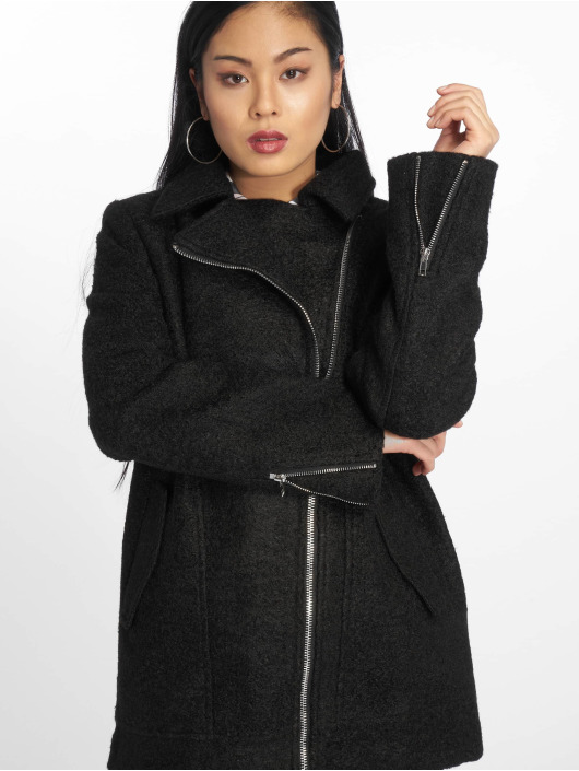 Missguided Coats Boucle Biker black