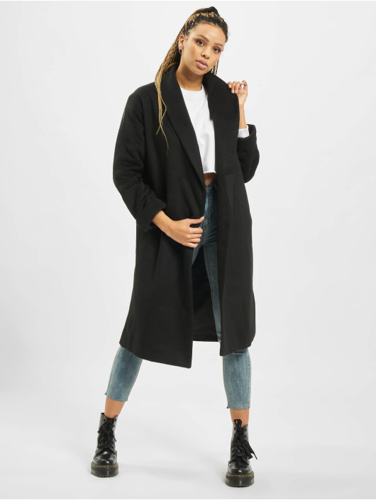 Missguided Coats Shawl Collar W Side black