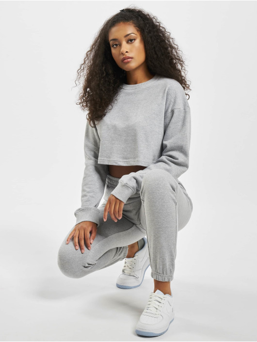 Missguided Collegepuvut Crop harmaa