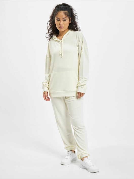 Missguided Collegepuvut Petite Hoody And Jogger valkoinen
