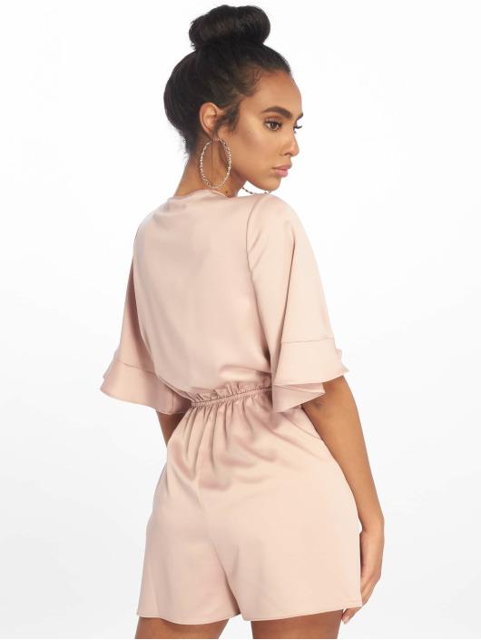 Missguided Combinaison & Combishort Satin Kimono Sleeve beige