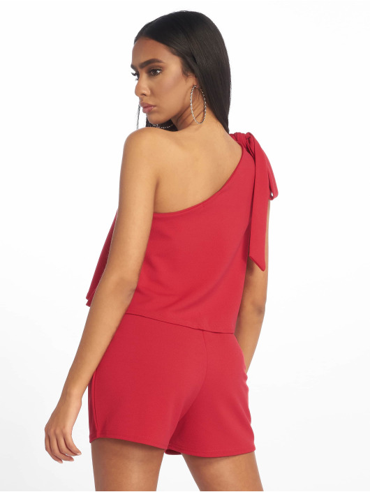 Missguided Combinaison & Combishort One Shoulder Bow rouge
