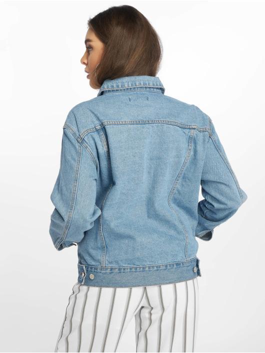 Missguided Denim Jacket Oversized blue