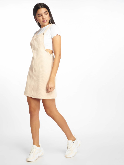 Missguided Dress Cord Pinafore beige