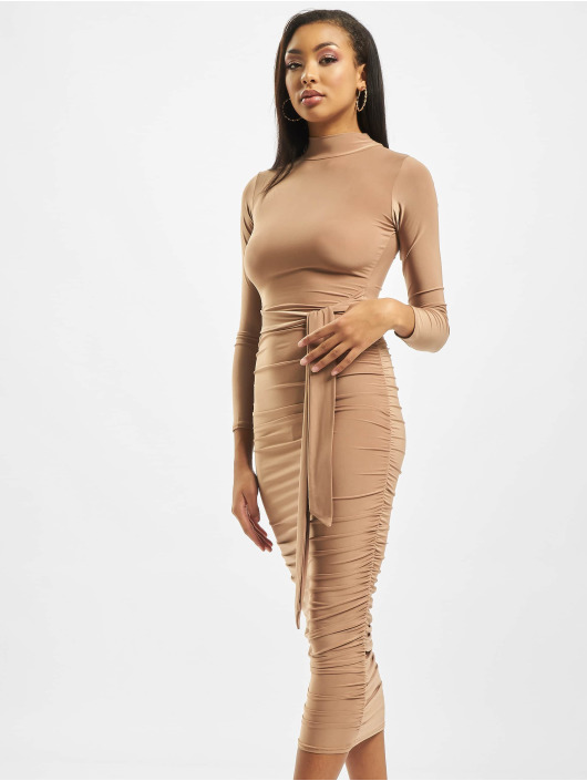 Missguided Dress High Neck beige