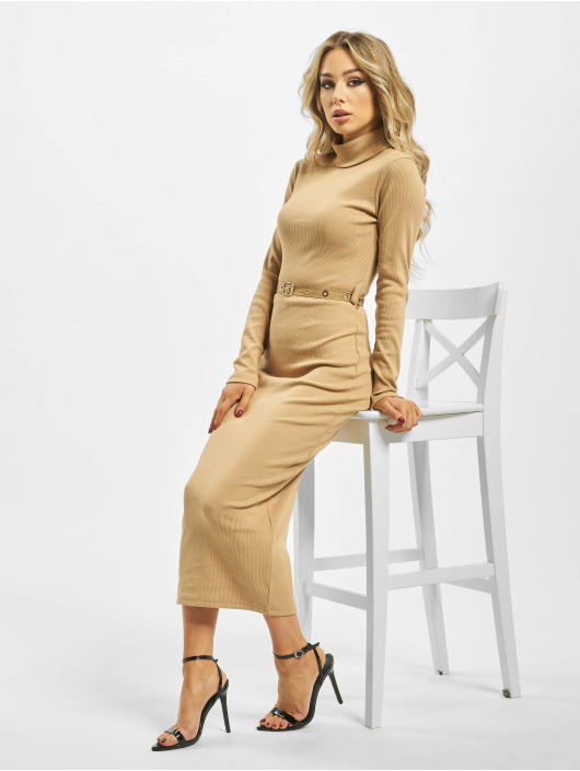 Missguided Dress Roll Neck beige
