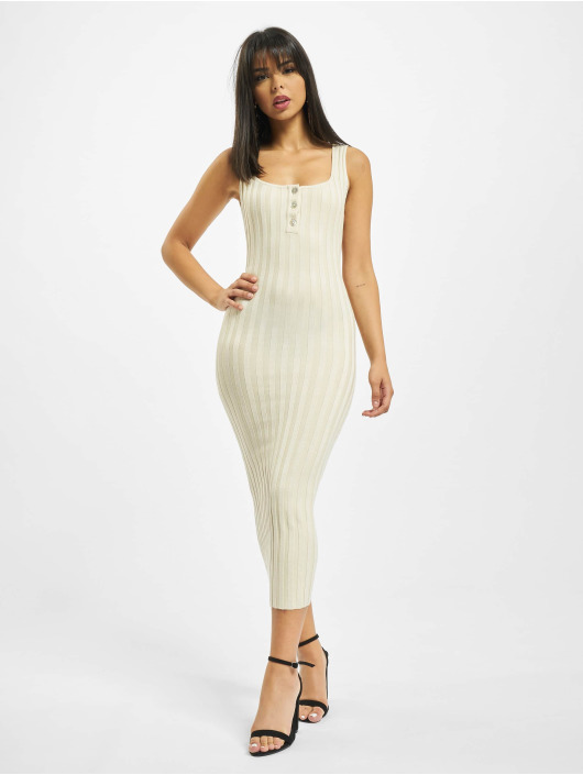 Missguided Dress Petite Knitted Rib beige