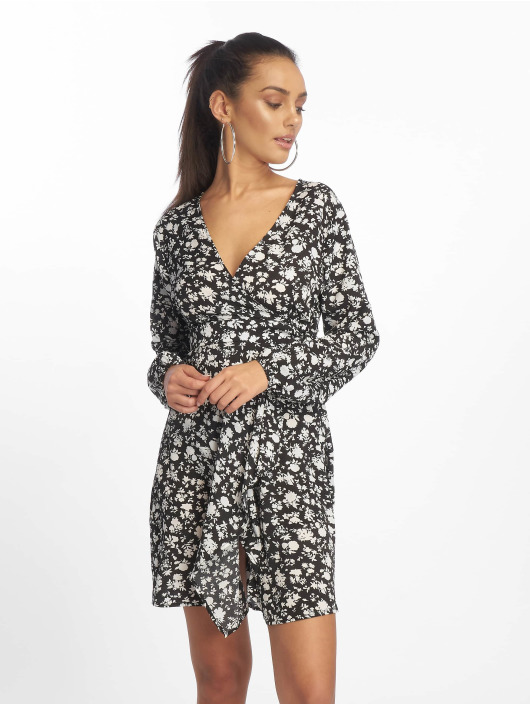 Missguided Dress Wrap Side Tea black