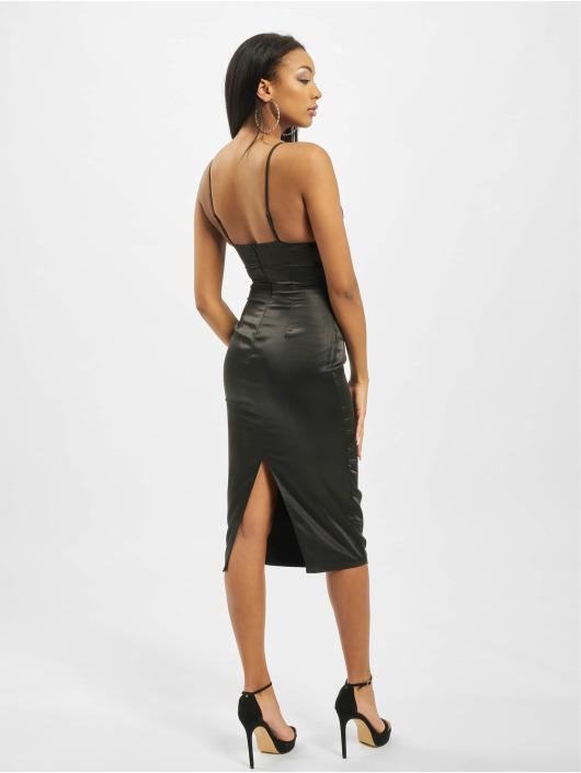 Missguided Dress Stretch Satin Cupped Cami Midi black