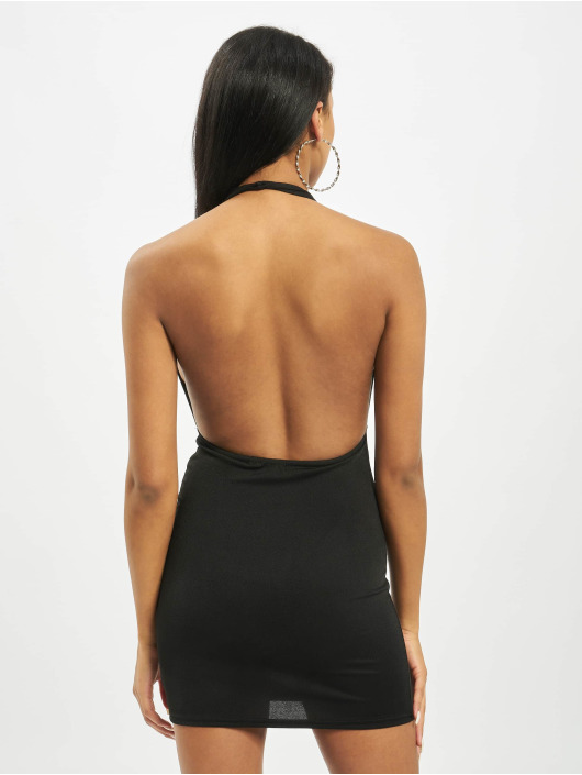 Missguided Dress Cross Front Halterneck black