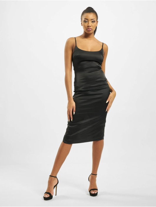 Missguided Dress Satin Cami Bodycon black