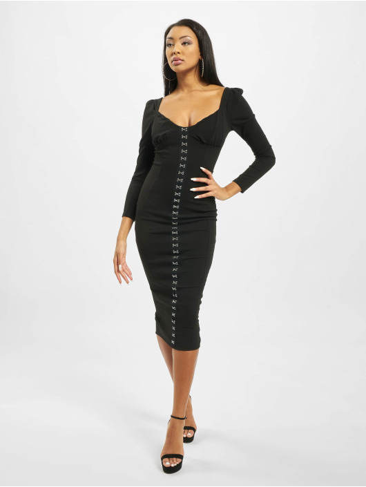 Missguided Dress Hook And Eye black