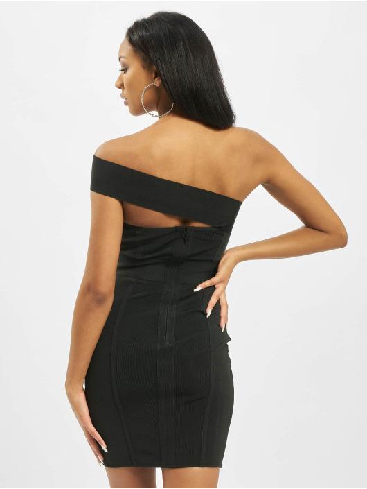 Missguided Dress One Shoulder Bandage Ribbed black