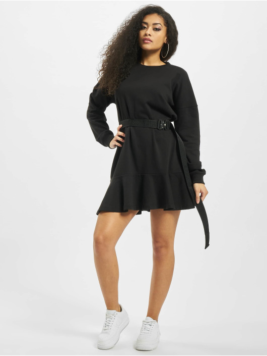 Missguided Dress Frill Hem black