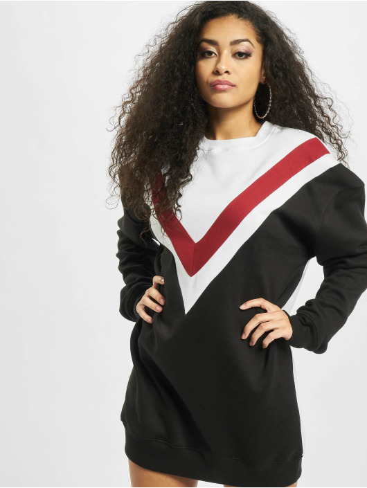 Missguided Dress Colour Block Sweater V black