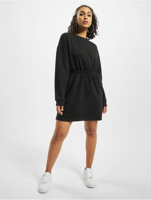 Missguided Dress Ruched Waist And Cuff black