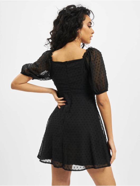 Missguided Dress Milkmaid Skater Dobby black