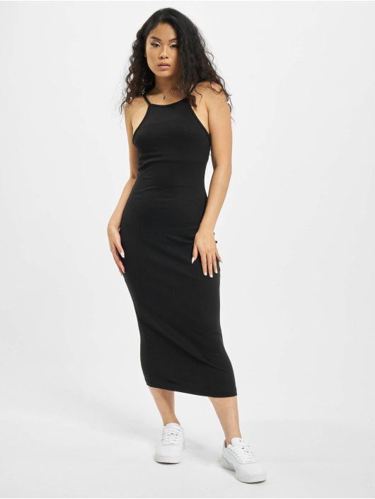 Missguided Dress Ribbed 90s Neck black