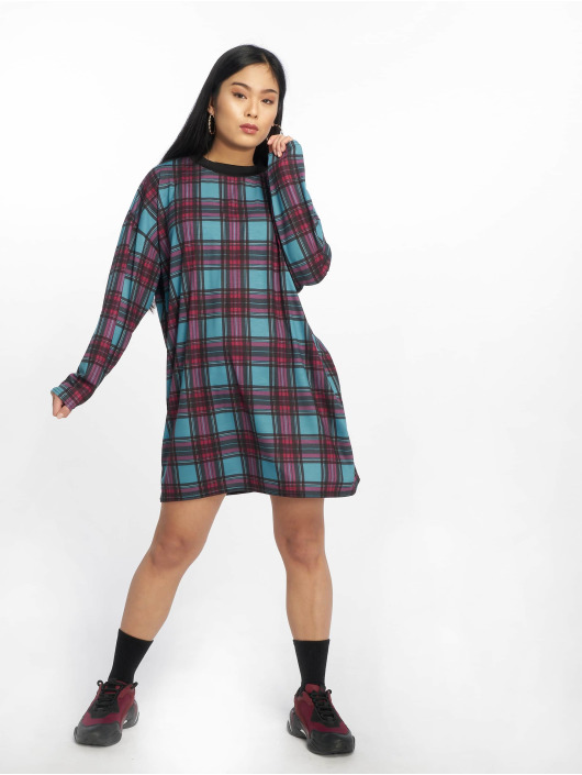 Missguided Dress Oversized Long Sleeve blue