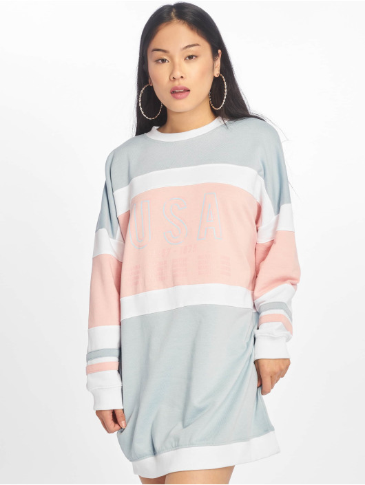 Missguided Dress Oversized Contrast Usa blue