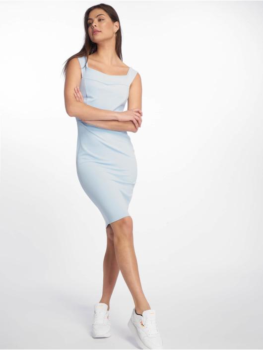 Missguided Dress Scuba Bardot Midi Bodycon blue
