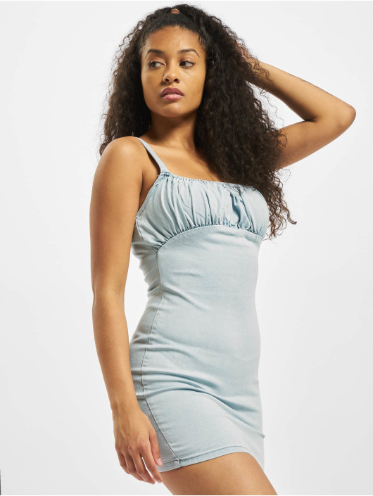 Missguided Dress Ruched blue