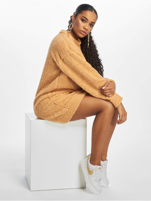 Missguided Dress Crew Neck brown