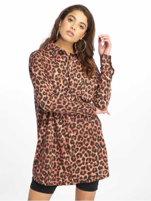 Missguided Dress Oversized Jersey brown