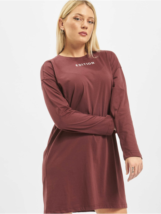 Missguided Dress Oversized Longsleeve T-Shirt Edition brown