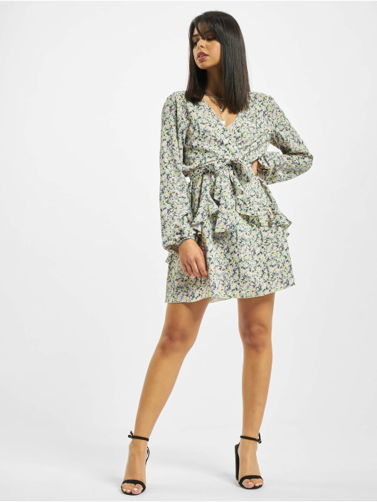 Missguided Dress V Neck Smock Ditsy colored