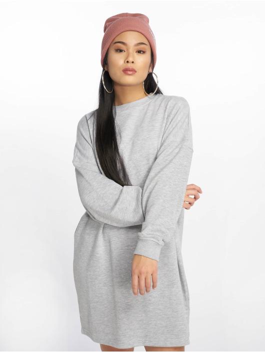 Missguided Dress Crew Neck Longline gray