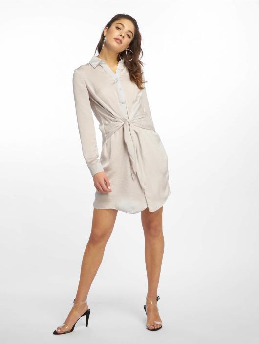 Missguided Dress Tie Waist gray