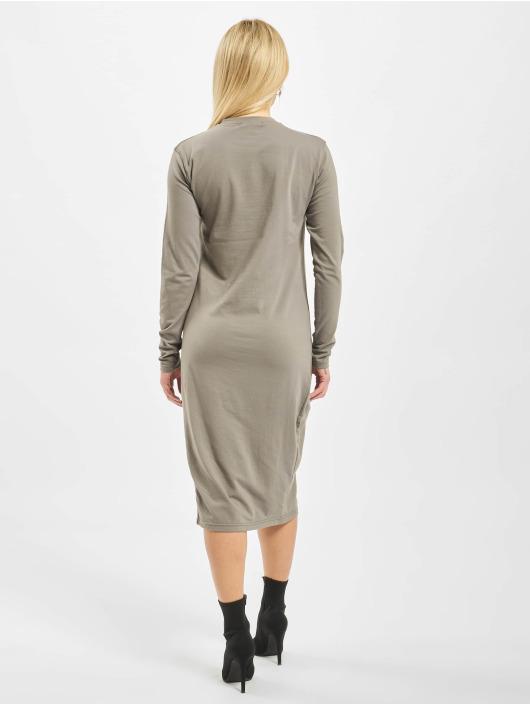 Missguided Dress Side Split Midi Longsleeve Plain gray