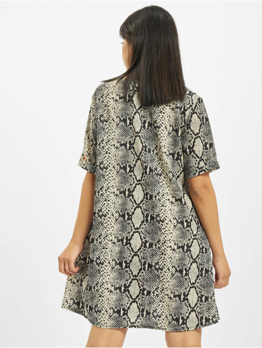 Missguided Dress Button Thru Smock Snake gray