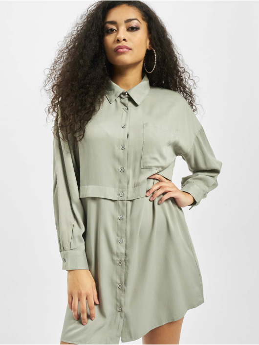 Missguided Dress Utility green