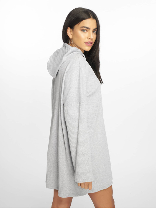 Missguided Dress Oversized Hooded Sweater grey