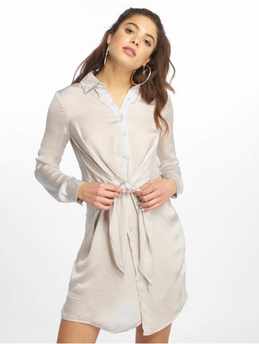 Missguided Dress Tie Waist grey
