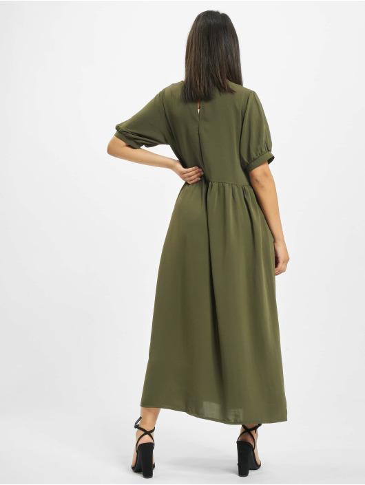Missguided Dress Puff Sleeve Midi Smock khaki