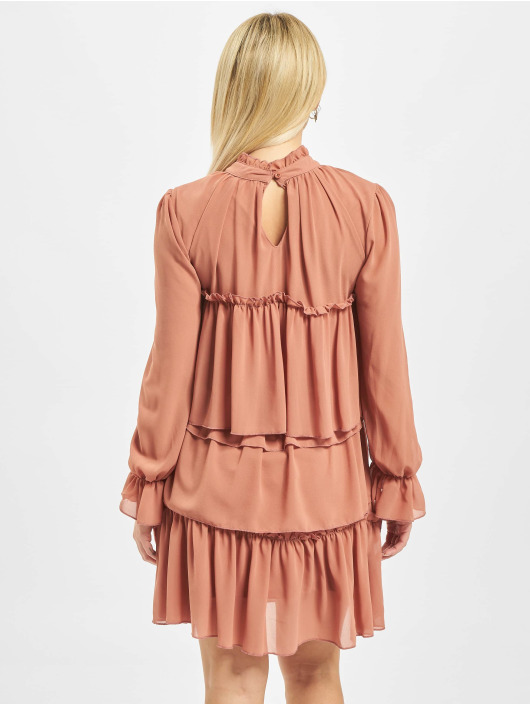 Missguided Dress High Neck Tiered Smock orange