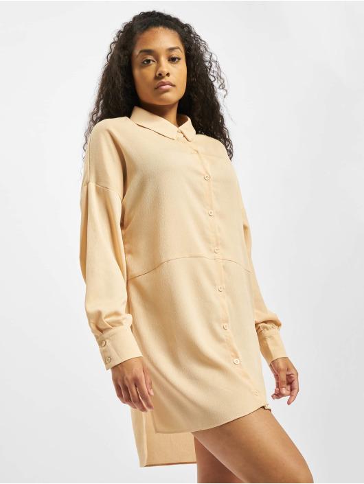 Missguided Dress Textured Utility orange