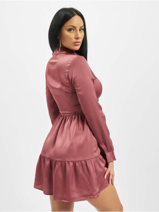 Missguided Dress Button Front Smock pink