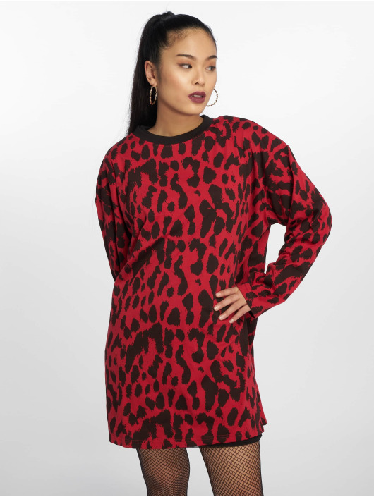Missguided Dress Oversized Longsleeve red